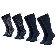 Набор из 4 пар высоких мужских <b>носков BOSS</b> - 4P <b>Gift</b> Set <b>Metal</b> ...