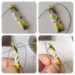 Плетение мозаикой с бисером