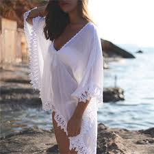 <b>See through</b> Women Beach <b>Dress</b> Beach Wear Chiffon Lace ...
