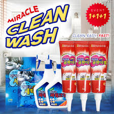 Miracle Mildew Gel 1+1+1  Washer Cleaning  Kitchenware Cleaner ...