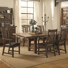 seven piece dining set: padima seven piece rustic standard height dining set