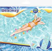 <b>Матрас для плавания BESTWAY</b> 188х71см ( c цвет. ячейками ...