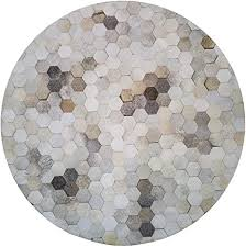 TT010G3 American Style Round Natural Cowhide <b>Patchwork Rug</b> ...