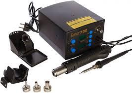 Цифровая <b>паяльная станция</b>, фен+паяльник <b>LUKEY 702</b> 5434 ...