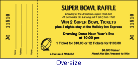 Calamar Press:: Your one stop ticket connection for raffle tickets Oversize raffle ticket