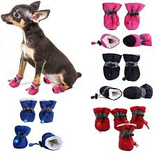 4pcs Waterproof <b>Winter Pet Dog Cats</b> Shoes Anti-slip Rain Snow ...