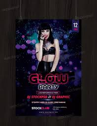 glow party psd flyer template stockpsd net promote