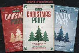 party flyer template psd for summer christmas and new year winter and christmas party flyer template