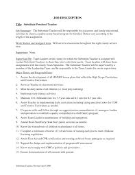 top preschool teacher job description com description preschool teacher resume sample job interview career