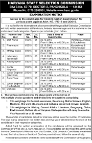 hssc exam staff nurse junior engineer mphw sister tutor the number of candidates called for interview will be twice the number of vacancies the total marks obtained in the written test and viva vice will