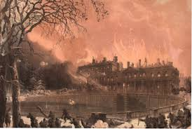"""Résultat de recherche d'images pour """"destruction chateau saint cloud"""""""