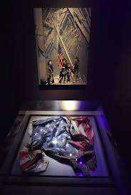 best ideas about world trade center now world an american flag found in the rubble is displayed under the now iconic image of a