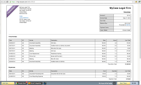 easy legal billing software integrated payments mycase reate professional invoices screenshot