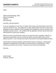 Letter example, Retail stores and Cover letter example on Pinterest Administrative Assistant Cover Letter Example: