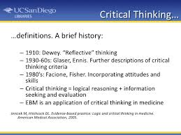 INTRODUCTION TO CRITICAL THINKING CRITICAL THINKING Definitions     Amazon in   merriam  b webster b        Full b definition b  interaction  collaboration  Introduce the     cultivates the habit of b critical b br ii