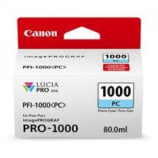 <b>Canon PFI-1000PC Photo Cyan</b> Ink Tank (0550C002) | BlueDogInk ...