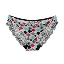 Women <b>Sexy</b> Lace Panty Semi Transparent Mesh <b>Printing</b> ...