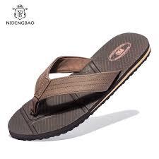 NEEDBO <b>Flat Flip Flops Sandals</b> Casual <b>Men Slippers Shoes</b> ...