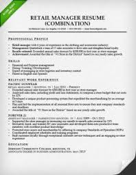 combination resume samples  amp  writing guide   rgretail manager combination resume sample