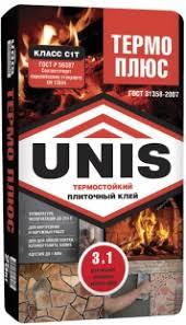 Плиточный <b>клей</b> термостойкий UNIS - ГК UNIS