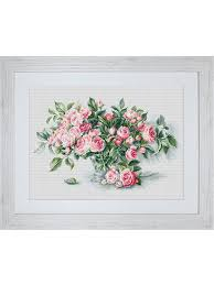 "<b>Набор для вышивания</b> крестом ""Букет чайных роз"" <b>Luca</b>-<b>S</b> ..."