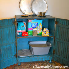 homemade tricks to hide an unsightly litter box and turn it into something awesome cat litter cabinet diy