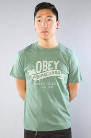 The <b>Quality</b> Dissent Antique Tee in Spruce by <b>Obey</b>