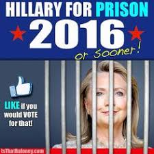 Image result for Hillary Clinton deserves to be in stripes of prison