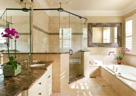 tiling ideas bathroom top: bathroom modern bathroom beautiful bathroom design ideas using black metal glass shower door along with travertine tile bathroom flooring and dark brown