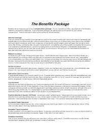 Best Photos of Templates For Compensation Packages - Employee ... Compensation and Benefits Package Example