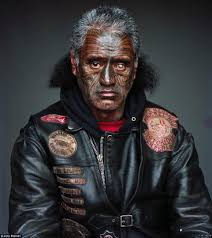s mighty mongrel mob gang in haunting portraits bung eye from the notorious chapter the artist has spent eight years embedded