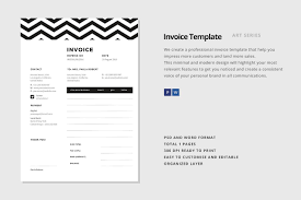 invoice template stationery templates on creative market