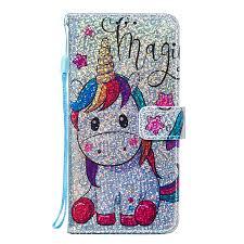 Thoankj Samsung Galaxy A20e <b>Case</b> Glitter Bling <b>Flip</b> Shockproof ...
