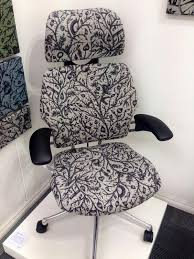 tangled fabric by camira fabrics on a freedom headrest at design quarter 2013 bela stackable office chair