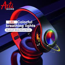 <b>B39</b> LED Colorful Breathing Lights Portable <b>Folding</b> Built-in FM ...