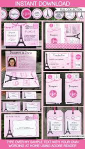 paris party printables invitations decorations paris party printables invitations decorations editable birthday party theme templates instant