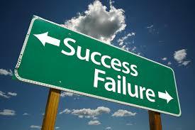 success or failure business for women success failure sign