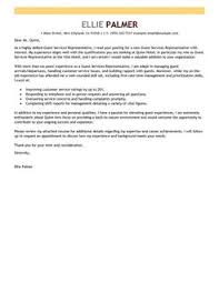 Cover Letter  guest relations