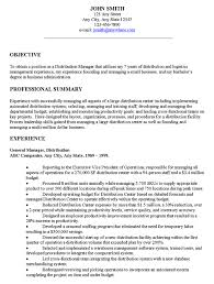 Resume Examples  How To Write Objectives For Resume For General Manager Experience And Professional Summary