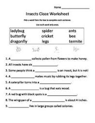 1000+ images about Bugs on Pinterest | Insects, Worksheets and ...Insects Cloze Worksheet (Fill-in-the-Blank) freeee