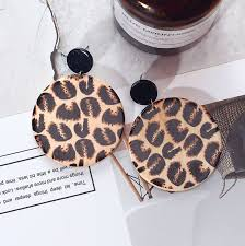 Leopard Print Earrings Round Simplicity in 2019 | Leopard tattoos ...