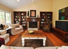 outstanding rustic family room decorating ideas with wood coffee table white legs on living carpet over chic family room decorating