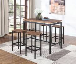 Atlas Black and Silver <b>Five</b>-<b>Piece Dining</b> Set on sale at Furniture ...