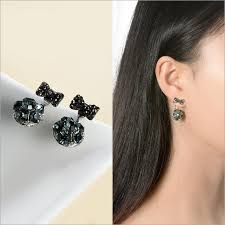 S925 silver <b>zircon</b> earrings <b>bowknot</b> stud earrings ladies&girls <b>fashion</b>