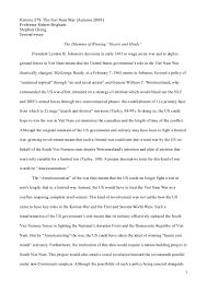 autumn history the vietnam war second essay
