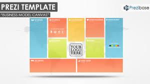 business prezi templates prezibase colorful creative business model canvas prezi template