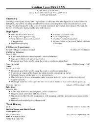 childcare resume examples in minneapolis  mn   livecareerkristina lynn b   nannies resume   minneapolis  minnesota