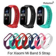 <b>Bracelet</b> for Xiaomi <b>Mi Band 5</b> Sport <b>Strap</b> Watch Silicone <b>Wrist Strap</b> ...