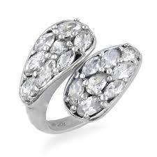 Art Palace White Hot <b>Luxury Cubic Zirconia</b> Gemstone Silver Ring ...