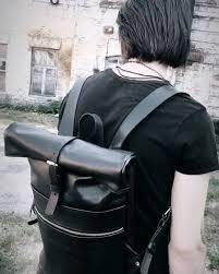 Rocket <b>Backpack</b>. <b>Classic black</b> - Poliakov Leather